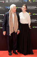 "French director Bertrand Tavernier and actress Julie Gayet in the photocall of the ""Quai D´orsay"" film premiere during the 61 San Sebastian Film Festival, in San Sebastian, Spain. September 24, 2013. (ALTERPHOTOS/Victor Blanco) /Nortephoto"