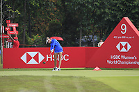 Jessica Korda (USA) in action on the 9th during Round 4 of the HSBC Womens Champions 2018 at Sentosa Golf Club on the Sunday 4th March 2018.<br /> Picture:  Thos Caffrey / www.golffile.ie<br /> <br /> All photo usage must carry mandatory copyright credit (&copy; Golffile | Thos Caffrey)