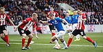 David Templeton tiptoes his way through the Clyde defence to score the fourth for Rangers