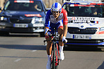 Marc Sarreau (FRA) Groupama-FDJ during Stage 1 of the La Vuelta 2018, an individual time trial of 8km running around Malaga city centre, Spain. 25th August 2018.<br /> Picture: Eoin Clarke | Cyclefile<br /> <br /> <br /> All photos usage must carry mandatory copyright credit (&copy; Cyclefile | Eoin Clarke)