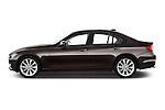 Driver side profile view of a 2012 - 2014 BMW 3-Series 320d Modern 4 Door Sedan.