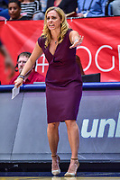 Washington, DC - August 31, 2018: Atlanta Dream head coach Nicki Collen on the sidelines during semi finals playoff game between Atlanta Dream and Wasington Mystics at the Charles Smith Center at George Washington University in Washington, DC. (Photo by Phil Peters/Media Images International)