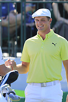Bryson DeChambeau (USA) on the 1st tee during Saturday's Round 3 of the Waste Management Phoenix Open 2018 held on the TPC Scottsdale Stadium Course, Scottsdale, Arizona, USA. 3rd February 2018.<br /> Picture: Eoin Clarke | Golffile<br /> <br /> <br /> All photos usage must carry mandatory copyright credit (&copy; Golffile | Eoin Clarke)