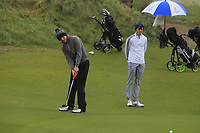 Joe Rooney (Co Armagh) on the 12th green during Round 2 of the Ulster Boys Championship at Portrush Golf Club, Portrush, Co. Antrim on the Valley course on Wednesday 31st Oct 2018.<br /> Picture:  Thos Caffrey / www.golffile.ie<br /> <br /> All photo usage must carry mandatory copyright credit (&copy; Golffile | Thos Caffrey)