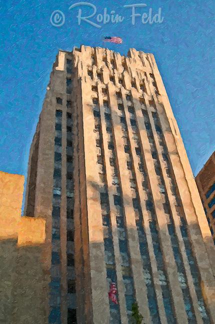 Liberty Savings Bank Building, Dayton Ohio (First Financial Bank) painting