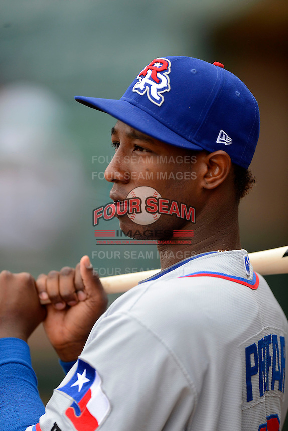 Round Rock Express shortstop Jurickson Profar #10 during a game against the New Orleans Zephyrs on April 15, 2013 at Zephyr Field in New Orleans, Louisiana.  New Orleans defeated Round Rock 3-2.  (Mike Janes/Four Seam Images)
