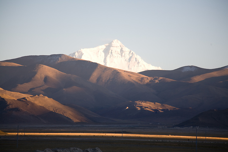 Mount Everest as viewed from Old Tingiri, Tibet.