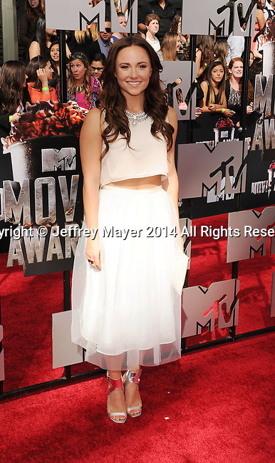 LOS ANGELES, CA- APRIL 13: Actress Briana Evigan attends the 2014 MTV Movie Awards at Nokia Theatre L.A. Live on April 13, 2014 in Los Angeles, California.