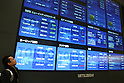 Apr 22, 2010 - Tokyo, Japan - A man looks at an electronic stock board at the Tokyo Stock Exchange in Tokyo, Japan, on April 22, 2010. The Nikkei Stock Average of 225 issues closed at 10,949.09 on the Tokyo Stock Exchange Thursday, down 140.96 points or 1.27 per cent.