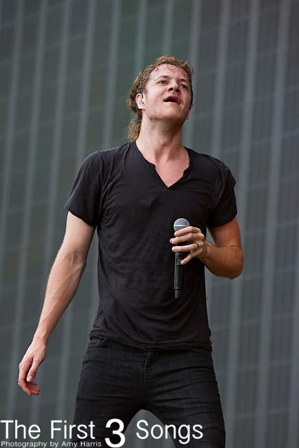 Dan Reynolds of Imagine Dragons performs during the 2013 Budweiser Made in America Festival in Philadelphia, Pennsylvania.