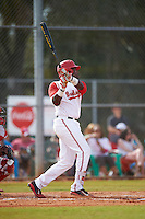 Ohio State Buckeyes left fielder Ronnie Dawson (4) at bat during a game against the Illinois State Redbirds on March 5, 2016 at North Charlotte Regional Park in Port Charlotte, Florida.  Illinois State defeated Ohio State 5-4.  (Mike Janes/Four Seam Images)