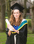 20/1/2016 With Compliments.     Attending the University of Limerick conferring ws Aoife Hourigan, Nenagh who was conferred with a Master in Psychology.<br /> Photograph Liam Burke/Press 22