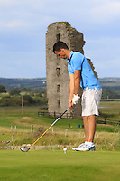 Paul Coughlan (Moate) on the 13th tee during Round 2 of The South of Ireland in Lahinch Golf Club on Sunday 27th July 2014.<br /> Picture:  Thos Caffrey / www.golffile.ie
