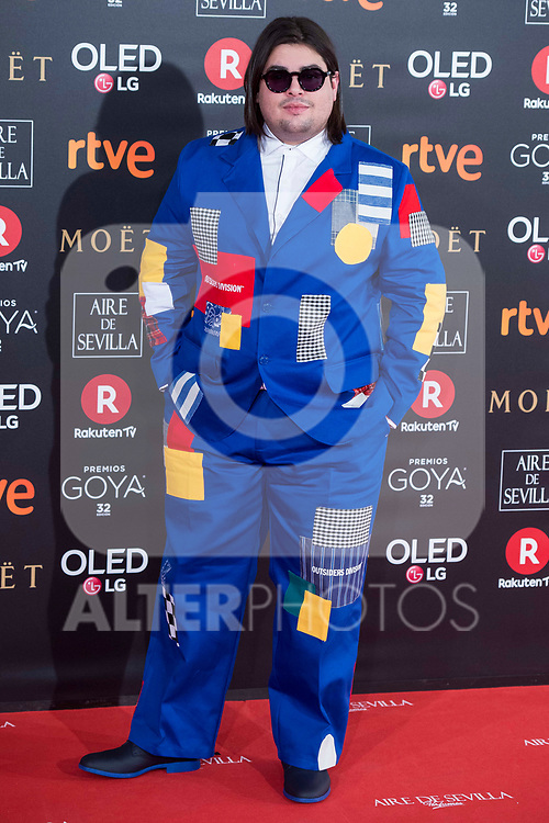 Brays Efe attends red carpet of Goya Cinema Awards 2018 at Madrid Marriott Auditorium in Madrid , Spain. February 03, 2018. (ALTERPHOTOS/Borja B.Hojas)
