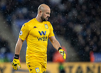 Aston Villa's Pepe Reina despairs <br /> <br /> Photographer Andrew Kearns/CameraSport<br /> <br /> The Premier League - Leicester City v Aston Villa - Monday 9th March 2020 - King Power Stadium - Leicester<br /> <br /> World Copyright © 2020 CameraSport. All rights reserved. 43 Linden Ave. Countesthorpe. Leicester. England. LE8 5PG - Tel: +44 (0) 116 277 4147 - admin@camerasport.com - www.camerasport.com