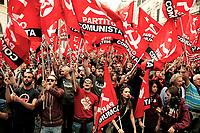 Manifestazione del Partito Comunista contro il governo