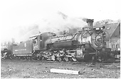 3/4 engineer side view of K-36 #483 at Salida with K-36 #485 in background.<br /> D&amp;RGW  Salida, CO