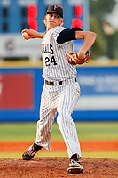 Farragut High School Admirals pitcher Ryan Hagenow (24) in action against Bradley Central High School in the TSSAA Class AAA state championship game on Reese Smith Jr. Field in Murfreesboro, Tennessee, on May 24, 2019. Farragut beat Bradley Central 7-3. (Danny Parker/Four Seam Images)