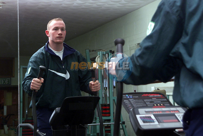 Eoin Collins training in the Boyne Health Studio..Picture Paul Mohan Newsfile