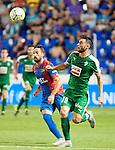 Levante UD's Morales and SD Eibar's Borja during La Liga match. September 23, 2015. (ALTERPHOTOS/Javier Comos)