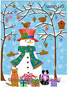 Kate, CHRISTMAS SANTA, SNOWMAN, WEIHNACHTSMÄNNER, SCHNEEMÄNNER, PAPÁ NOEL, MUÑECOS DE NIEVE, paintings+++++Christmas page 74,GBKM203,#x#