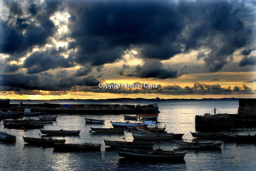 Fishing boats at sunset in Salvador, Bahia. Brazil 2008.#3