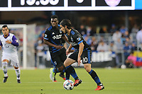 San Jose, CA - Wednesday May 17, 2017: Jahmir Hyka during a Major League Soccer (MLS) match between the San Jose Earthquakes and Orlando City SC at Avaya Stadium.