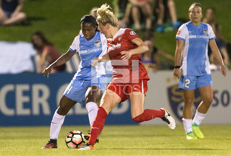 Boyds, MD - Saturday April 29, 2017: Nichelle Prince, Kassey Kallman during a regular season National Women's Soccer League (NWSL) match between the Washington Spirit and the Houston Dash at Maureen Hendricks Field, Maryland SoccerPlex. The Dash won 1-0.