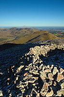 Allermuir Hill, Castle Law, Turnhouse Hill, Glencorse and Edinburgh from Carnethy Hill, The Pentland Hills, Lothian<br /> <br /> Copyright www.scottishhorizons.co.uk/Keith Fergus 2011 All Rights Reserved