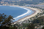 """Stinson Beach"" is located on Highway 1 just north of the Golden Gate Bridge in Marin County on the Pacific Ocean. Mt. Tamalpais is just above it and has several trails that lead down to the town and beach. Stinson Beach is a beautiful small town that offers a great getaway from the big city on the other side of the bridge."