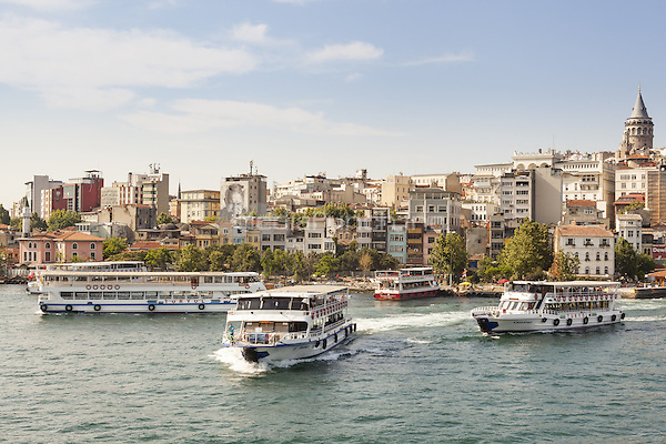 Ferries in the Golden Horn, and Galata Tower, Istanbul, Turkey  May 2015.<br /> CAP/MEL<br /> &copy;MEL/Capital Pictures /MediaPunch ***NORTH AND SOUTH AMERICA ONLY***