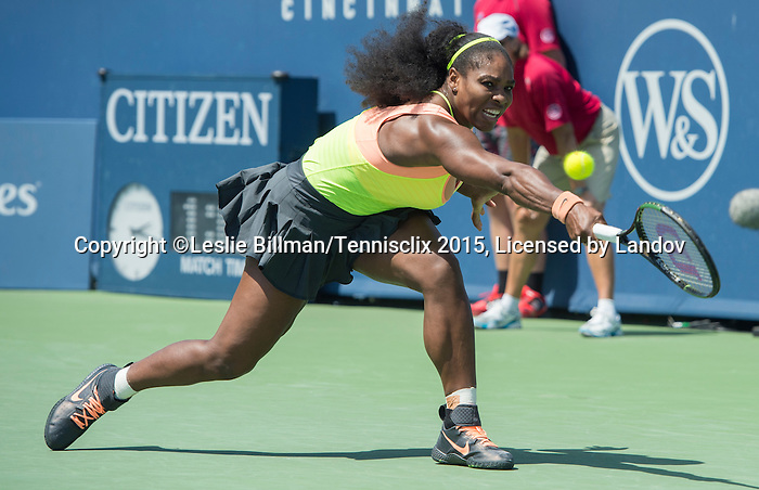 Serena Williams (USA) defeats Ana Ivanovic (SRB)  3-6, 6-4, 6-2 at the Western and Southern Open in Mason, OH on August 21, 2015.