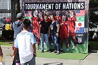 Seattle, WA - Thursday July 27, 2017: Fan HQ during a 2017 Tournament of Nations match between the women's national teams of the United States (USA) and Australia (AUS) at CenturyLink Field.