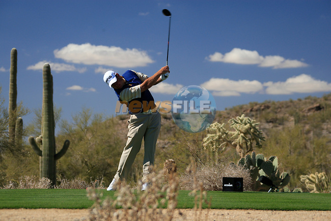 Lee Westwood (ENG) in action on the 13th tee during Day 2 of the Accenture Match Play Championship from The Ritz-Carlton Golf Club, Dove Mountain, Thursday 24th February 2011. (Photo Eoin Clarke/golffile.ie)