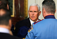 Vice President Mike Pence delivers remarks to High Intensity Drug Trafficking Area (HIDA) directors and deputy directors in the Indian Treaty Room of the Eisenhower Executive Office Building on the White House grounds, Washington, DC, February 7, 2019. Photo Credit: Martin H. Simon/CNP/AdMedia