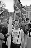 The neo-nazi British Movement demonstrate at Marble Arch in central London.