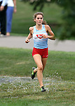 SIOUX FALLS, SD - SEPTEMBER 3: Lincoln's Katie Patrick comes down the home stretch at the Mack Butler Cross Country Invite Tuesday at Kuehn Park.  (Photo by Dave Eggen/Inertia)