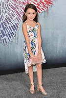 "LOS ANGELES, CA. August 28, 2018: Cailey Fleming at the world premiere of ""Peppermint"" at the Regal LA Live."