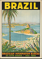 BNPS.co.uk (01202 558833)<br /> Pic: SwannGalleries/BNPS<br /> <br /> ***Please Use Full Byline***<br /> <br /> Rio de Janeiro - &pound;1000<br /> <br /> Beautiful posters from the halcyon days of travel up for auction.<br /> <br /> Scarce vintage travel posters promoting holidays across the globe in the 1920's and 30's are tipped to sell for over &pound;200,000 .<br /> <br /> The fine collection of 200 works of art that hark back to the halcyon days of train and boat travel have been brought together for sale.<br /> <br /> The posters were used to advertise dream holiday destinations in far-flung places such as the US and Australia and to celebrate the luxurious ways of getting to them.<br /> <br /> Most of the advertising posters date back to the 1930s and are Art Deco in style and they are all from the original print-run.
