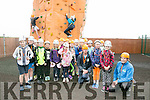 Spa National School pupils of 3rd class with Kieran Galway and Ger Cronin, Climbing Instructors at the Wetlands Rockie Climbing Club Summer Camp on Monday