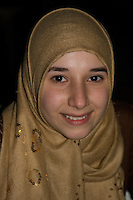 Benghazi, Libya, North Africa -- Libyan Teenage Girl, Amira Rafiq Agah