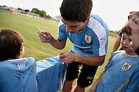 Nicolas Celaya/ URUGUAY/ CANELONES/ COMPLEJO URUGUAY CELESTE<br /> En la foto, Entrenamiento de la seleccion mayor de futbol previo a una fecha de eliminatorias ante Brasil para el mundial Rusia 2018, en el Complejo de Alto Rendimiento de AUF. Nicol&aacute;s Celaya /adhocFotos<br /> 2016 - 21 de marzo - lunes