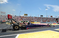 Jun. 2, 2012; Englishtown, NJ, USA: NHRA top fuel dragster driver Ike Maier during qualifying for the Supernationals at Raceway Park. Mandatory Credit: Mark J. Rebilas-