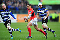 Alex Goode of Saracens  in possession. Aviva Premiership match, between Bath Rugby and Saracens on December 3, 2016 at the Recreation Ground in Bath, England. Photo by: Patrick Khachfe / Onside Images