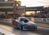 Oct 12, 2018; Concord, NC, USA; NHRA funny car driver Shawn Langdon during qualifying for the Carolina Nationals at zMax Dragway. Mandatory Credit: Mark J. Rebilas-USA TODAY Sports