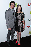 "HOLLYWOOD, LOS ANGELES, CA, USA - APRIL 02: Ben Feldman, Michelle Mulitz at the Los Angeles Premiere Of AMC's ""Mad Men"" Season 7 held at ArcLight Cinemas on April 2, 2014 in Hollywood, Los Angeles, California, United States. (Photo by Xavier Collin/Celebrity Monitor)"
