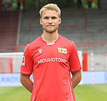 06.07.2019, Stadion an der Wuhlheide, Berlin, GER, 2.FBL, 1.FC UNION BERLIN , Mannschaftsfoto, Portraits, <br /> DFL  regulations prohibit any use of photographs as image sequences and/or quasi-video<br /> im Bild Sebastian Andersson (1.FC Union Berlin #10)<br /> <br /> <br />      <br /> Foto © nordphoto / Engler