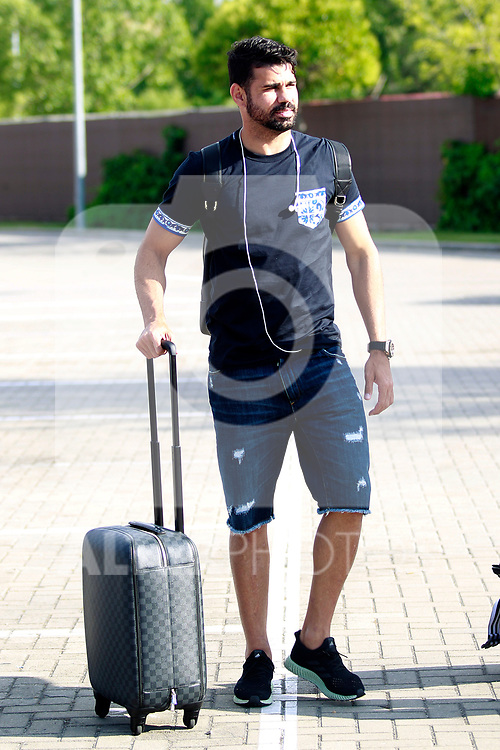 Spain's Diego Costa arrives to the national football team stage to train the qualifying matches for the 2018 World Cup in Russia. June 3,2017.(ALTERPHOTOS/Acero)