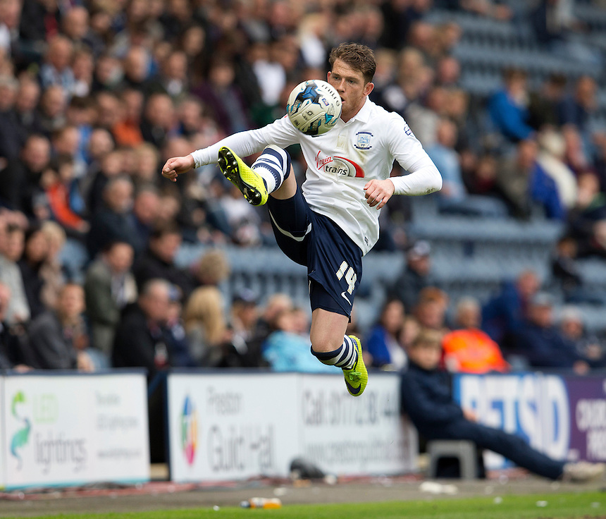 Preston North End's Joe Garner<br /> <br /> Photographer Stephen White/CameraSport<br /> <br /> Football - The Football League Sky Bet League One Semi-Final Second Leg - Preston North End -  Chesterfield - Deepdale - Preston<br /> <br /> &copy; CameraSport - 43 Linden Ave. Countesthorpe. Leicester. England. LE8 5PG - Tel: +44 (0) 116 277 4147 - admin@camerasport.com - www.camerasport.com