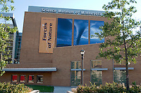 Entrance to the Science Museum. St Paul Minnesota USA